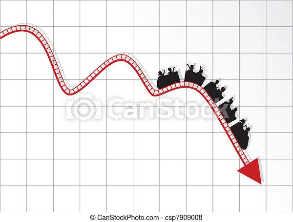 Graph de montaña rusa - csp7909008