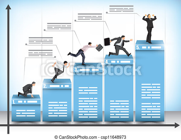 Competencia de negocios - csp11648973