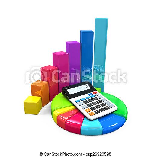 Calculador con gráfico y gráfico - csp26320598
