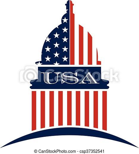 Logo del gobierno de EE.UU. Diseño gráfico Vector - csp37352541