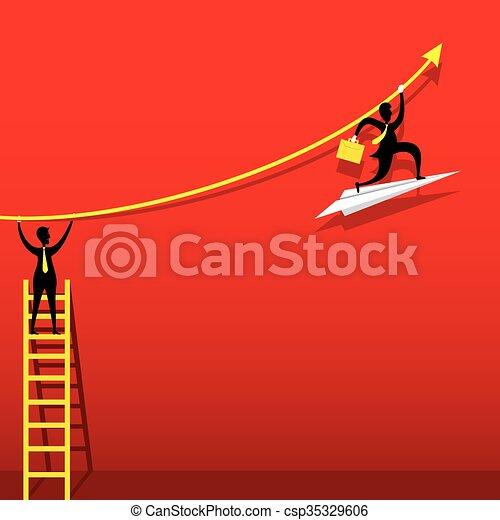 Diseño de gráficos de crecimiento empresarial - csp35329606