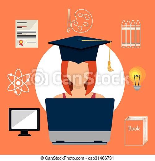 Diseño de educación online gráfico - csp31466731