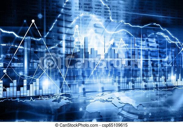 Gráfico de negocios - csp65109615