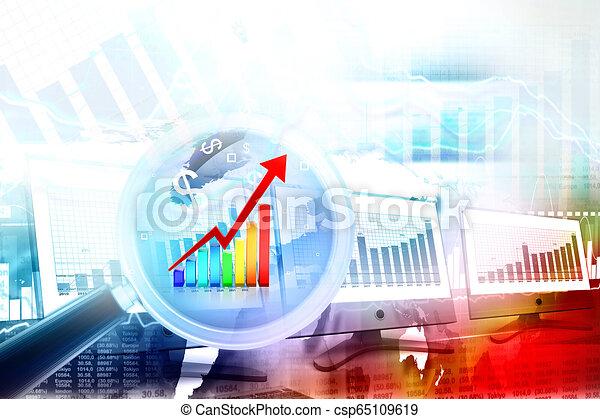 Gráfico de negocios - csp65109619