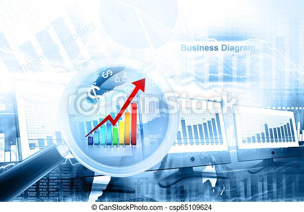 Gráfico de negocios - csp65109624