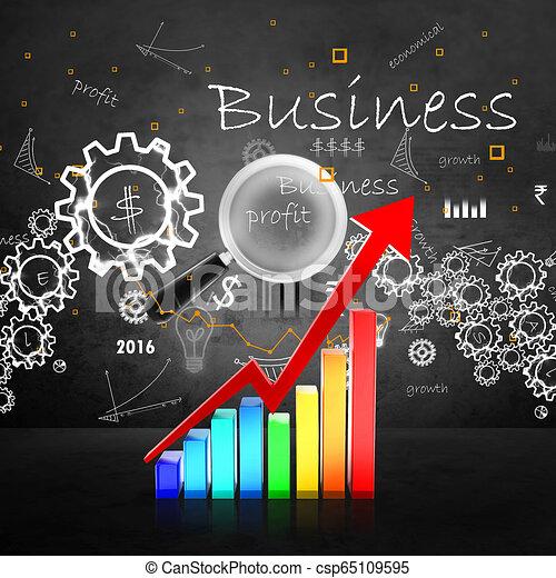 Gráfico de negocios - csp65109595