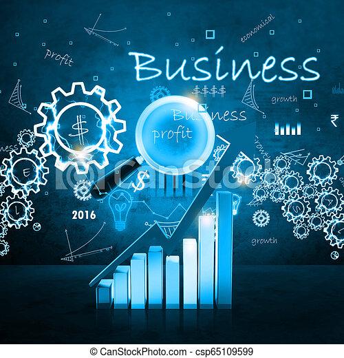 Gráfico de negocios - csp65109599