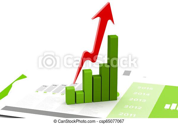 Gráfico de negocios - csp65077067