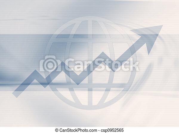 Grafico de negocios - csp0952565