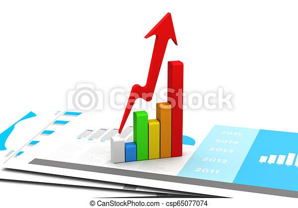 Gráfico de negocios - csp65077074
