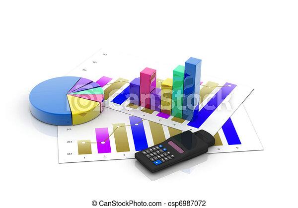 Gráfico de negocios con gráfico - csp6987072