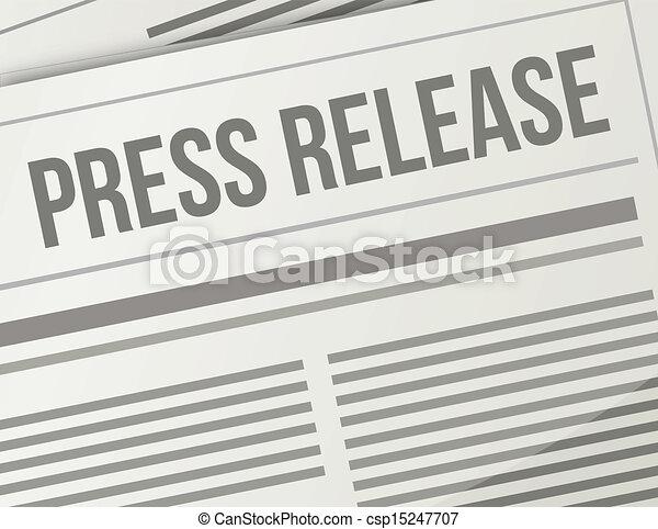 Liberación de prensa ilustración gráfica - csp15247707