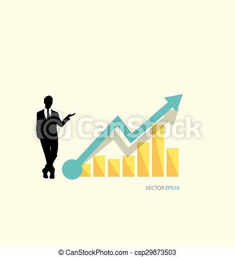 Gráfico de diseño moderno. El gráfico de negocios al éxito, puede usarse para el concepto de negocios. - csp29873503