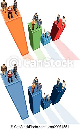 Gente de negocios por encima - csp29074551