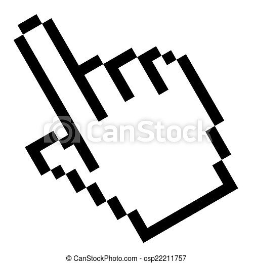 gráfico, -, pixel, mano, índice - csp22211757