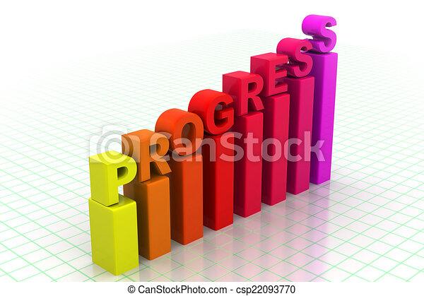 Gráfico de progreso de negocios - csp22093770