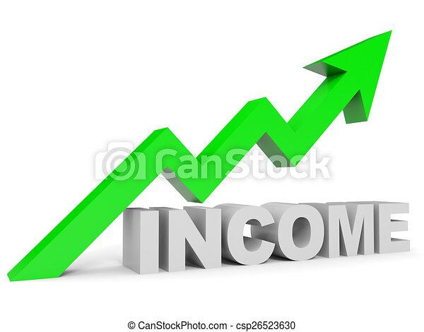 gráfico, renda, cima, arrow. - csp26523630