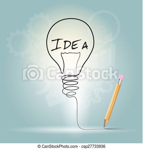 Diseño gráfico idea, ilustración vectorial - csp27733936