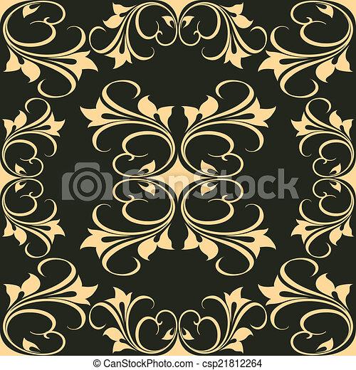 gráfico, vetorial, pretas, artisticos, fundo, desenho - csp21812264