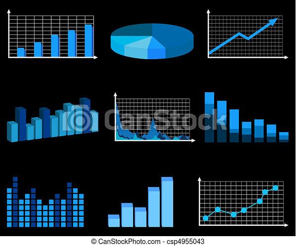 gráficos, negócio - csp4955043
