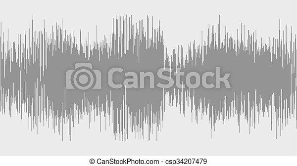 grå, bilda, sammandrag formge, bakgrund, wave. - csp34207479