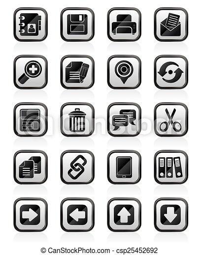 grænseflade, iconerne, internet - csp25452692