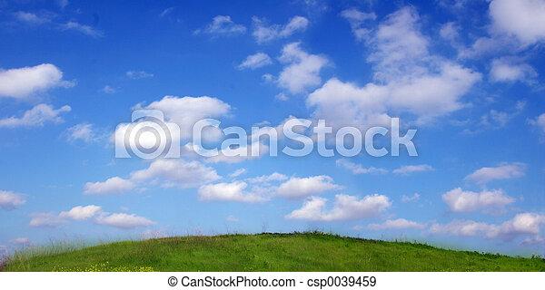 græs, himmel - csp0039459
