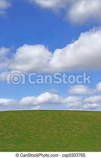græs, himmel - csp0303765