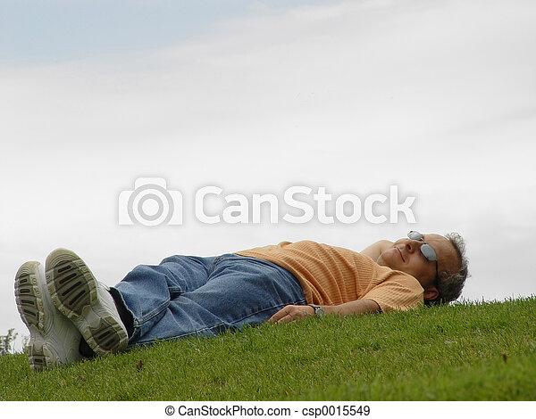 græs, mand - csp0015549
