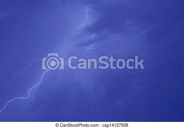 grève, éclair - csp14127508