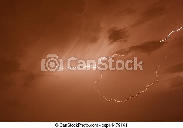 grève, éclair - csp11479161