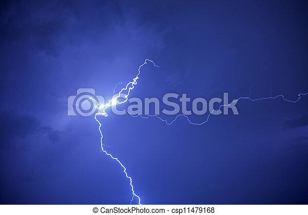 grève, éclair - csp11479168
