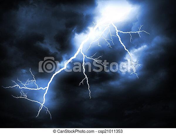 grève, éclair - csp21011353