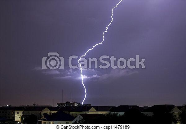 grève, éclair - csp11479189