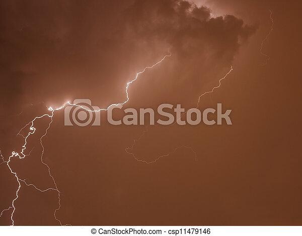 grève, éclair - csp11479146