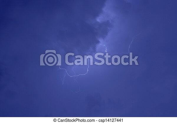 grève, éclair - csp14127441