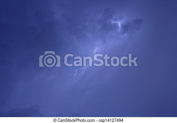 grève, éclair - csp14127494