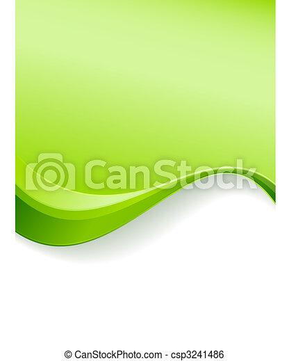 grön fond, mall, våg - csp3241486