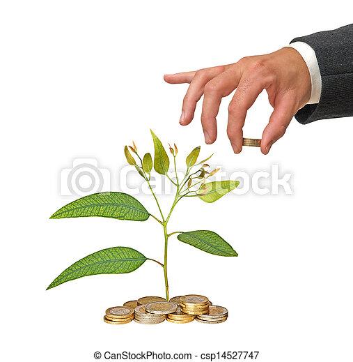 grön investering, affär - csp14527747
