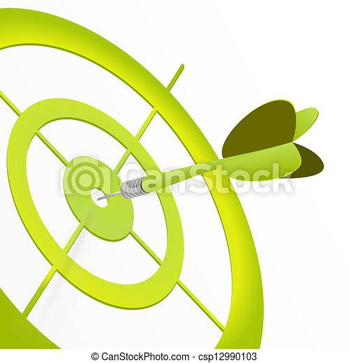 grön, måltavla - csp12990103