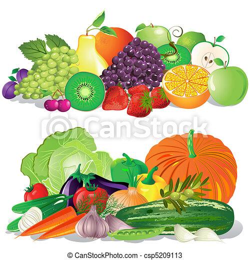 grönsaken, frukt - csp5209113
