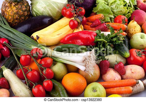 grönsaken, frukter - csp13922380
