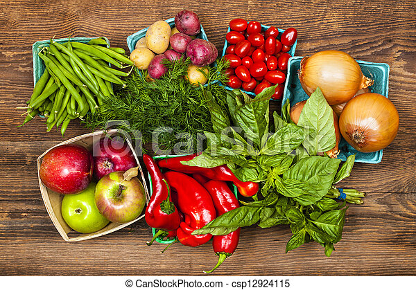 grönsaken, marknaden, frukter - csp12924115