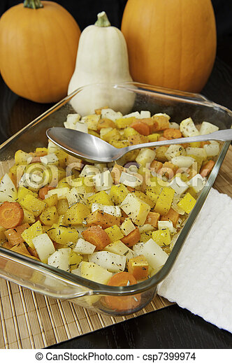 grönsaken, pumpor, rot, steket - csp7399974