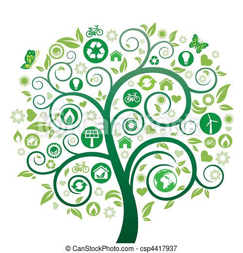 grönt träd - csp4417937