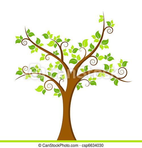 grönt träd - csp6634030