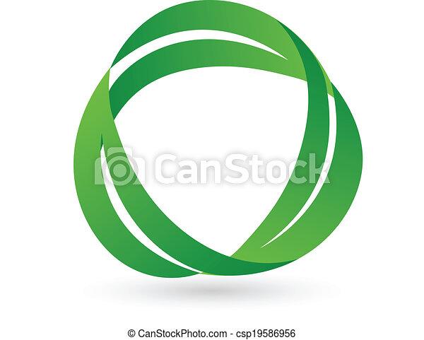 grønne, sundhed, det leafs, logo - csp19586956