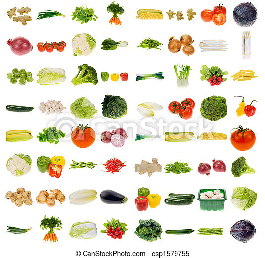 grønsag, uhyre, samling - csp1579755