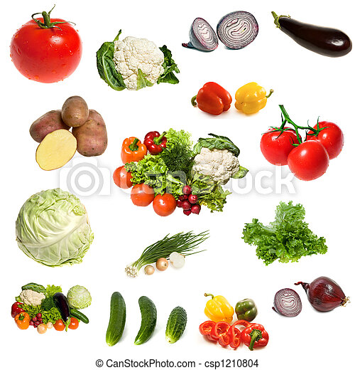 grønsager, gruppe, isoleret - csp1210804