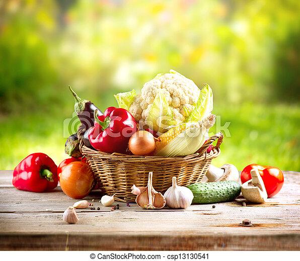 grønsager, organisk - csp13130541